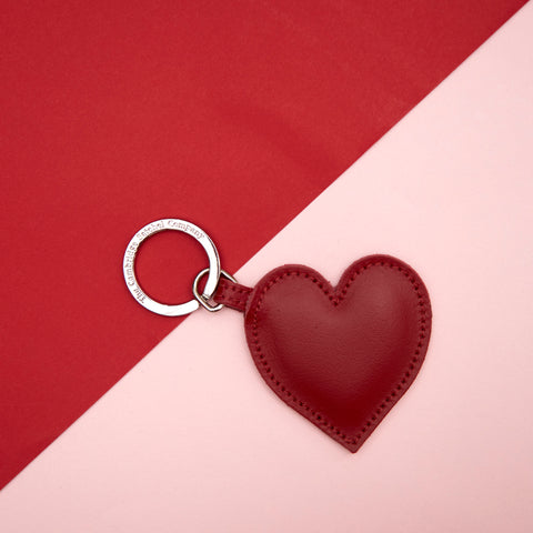 Limited Edition Heart Keyring in Leather - Red