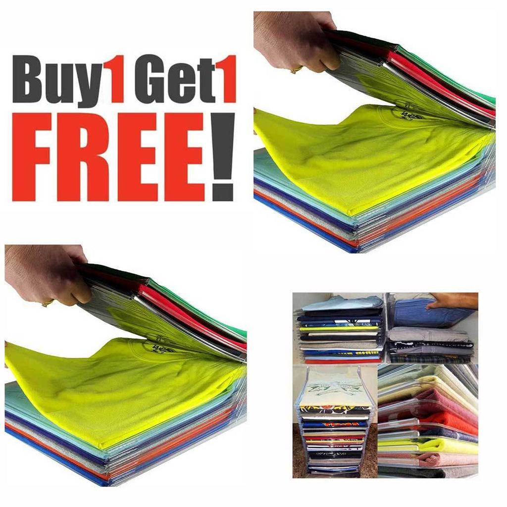 Buy 1 Take 1 Clever Clothes Organizer ( 10 pcs per pack ) - ohhshopping.com