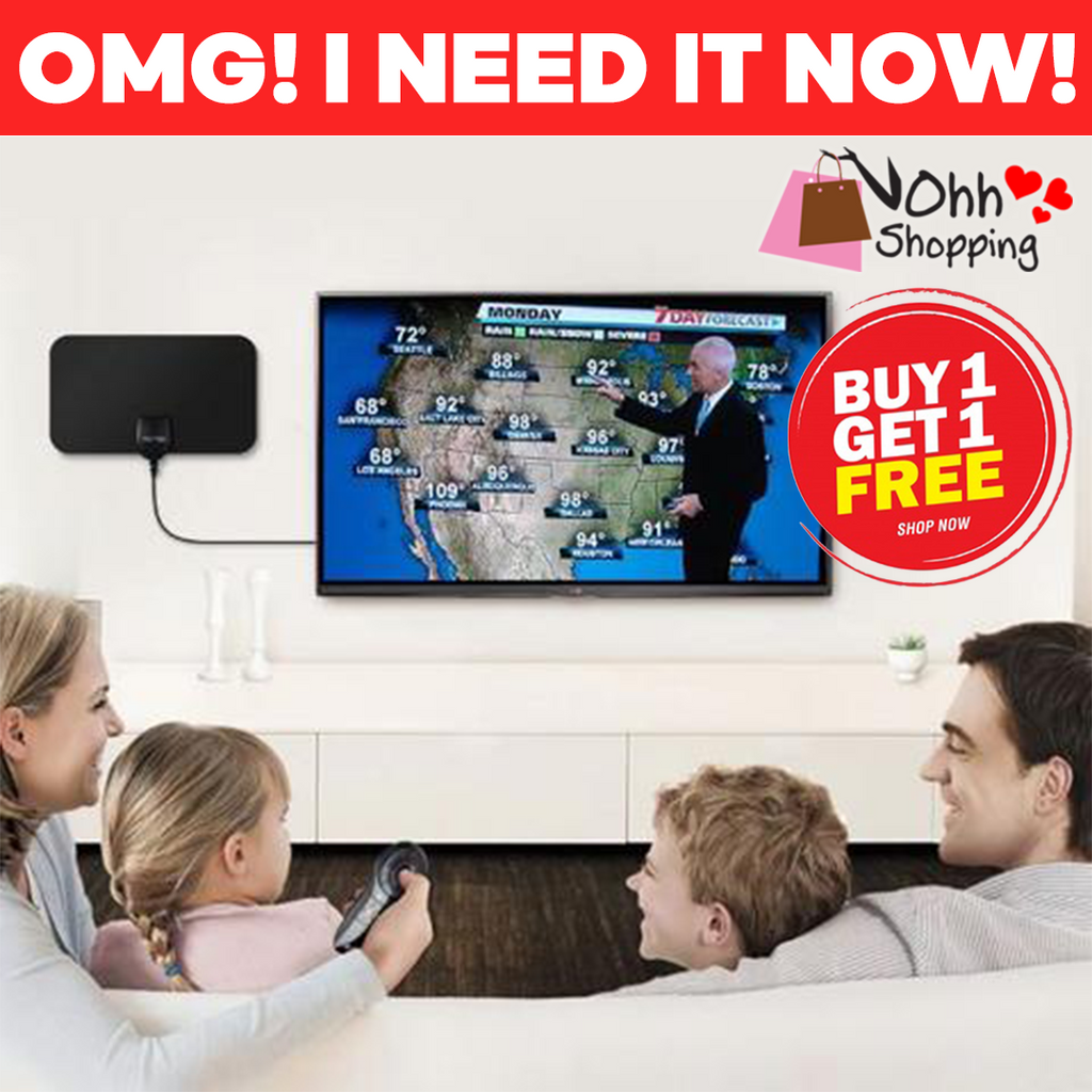HDTV FREE CABLE ANTENNA WITH SIGNAL BOOSTER ( BUY 1 TAKE 1 ) FREE SHIPPING - ohhshopping.com