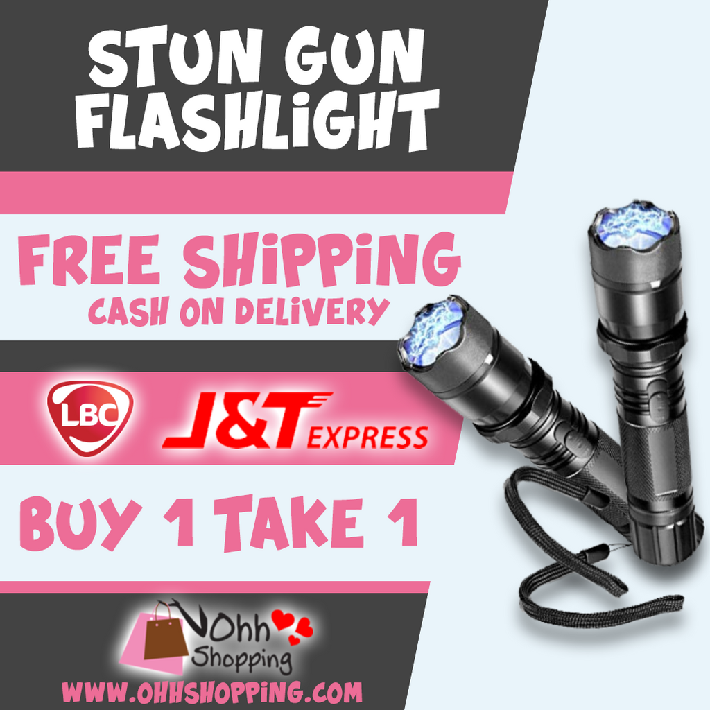 Rechargeable Flashlight with Stun Gun and charger ( BUY 1 Take 1 ) - ohhshopping.com