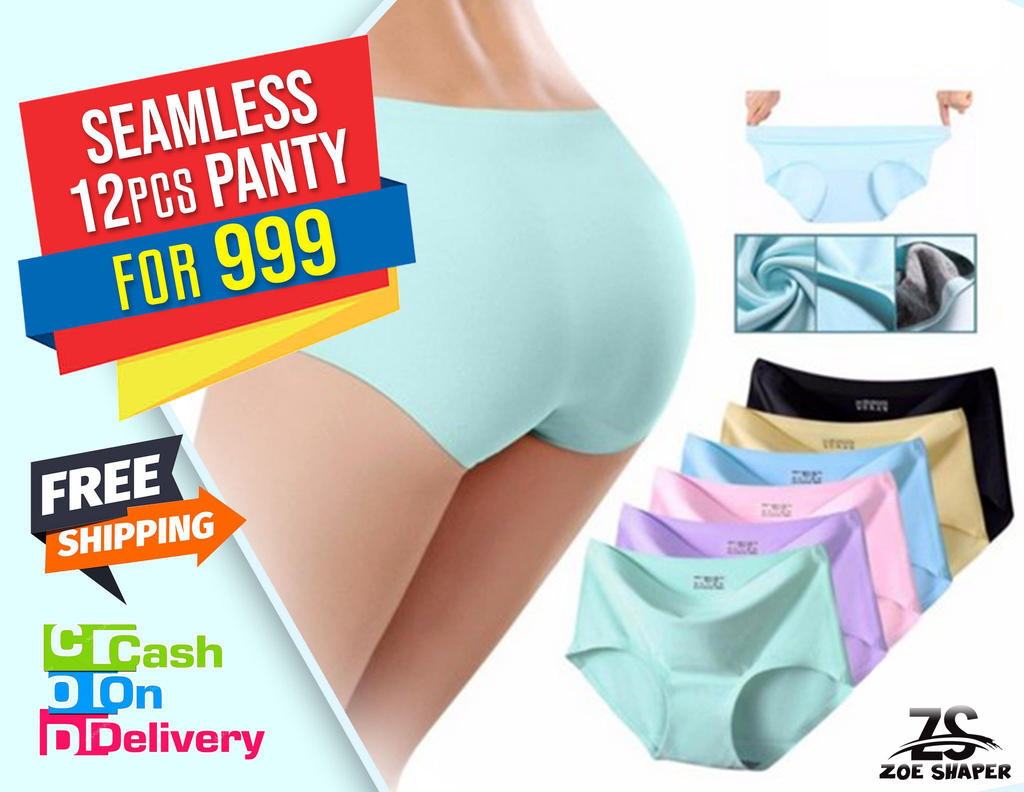 12 Pcs Seamless Underwear for only 999 ( Free Shipping )