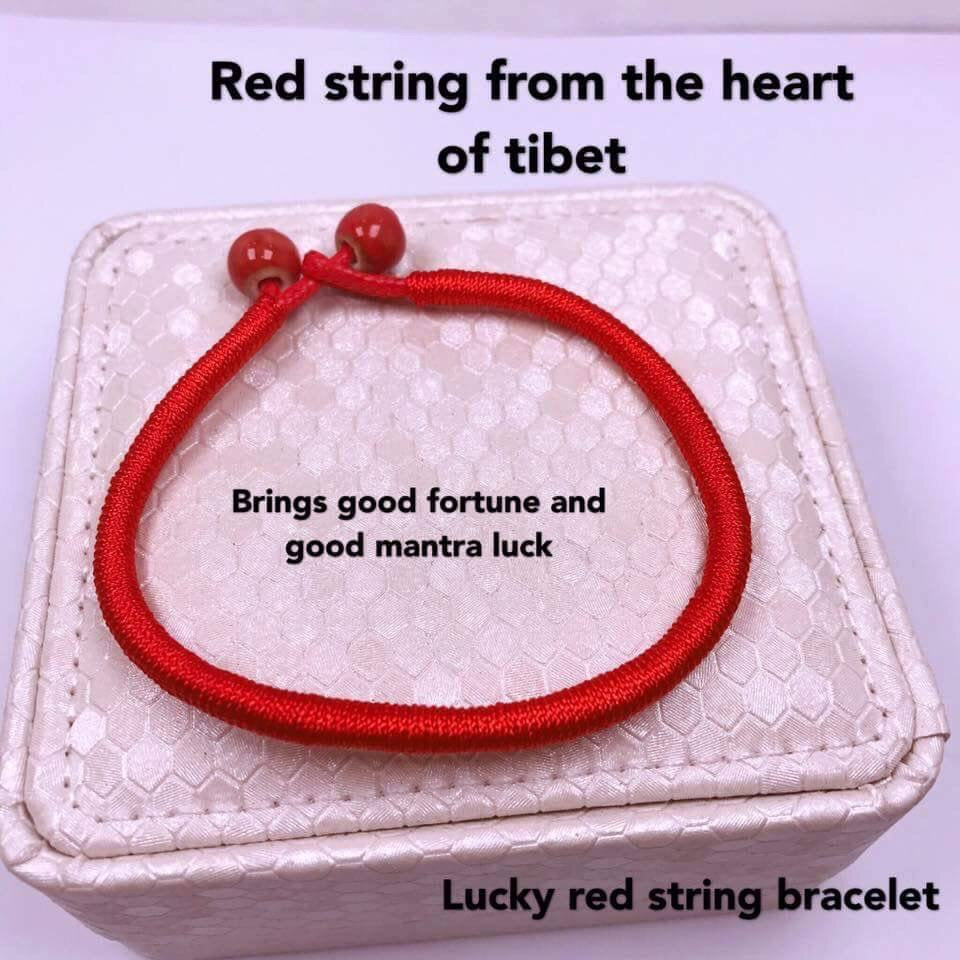 LUCKY RED STRING BRACELETS ( SET OF 2 ) - ohhshopping.com