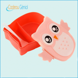 Lunch Box Hibou rose pas chere