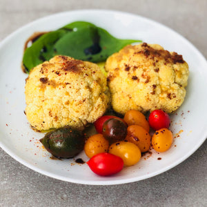 Hummus Spice Roasted Baby Cauliflower (Vegan)
