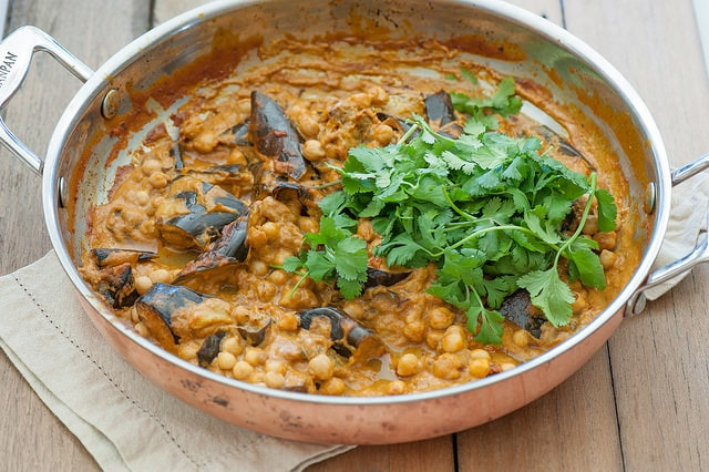 Vegetarian Recipes - Zest & Zing - Chickpea Eggplant Curry