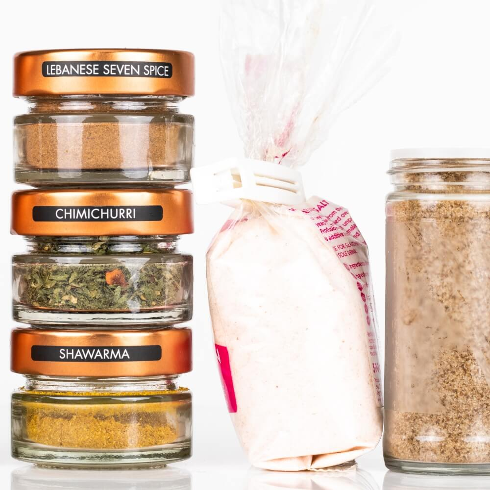 Space saving spice jars