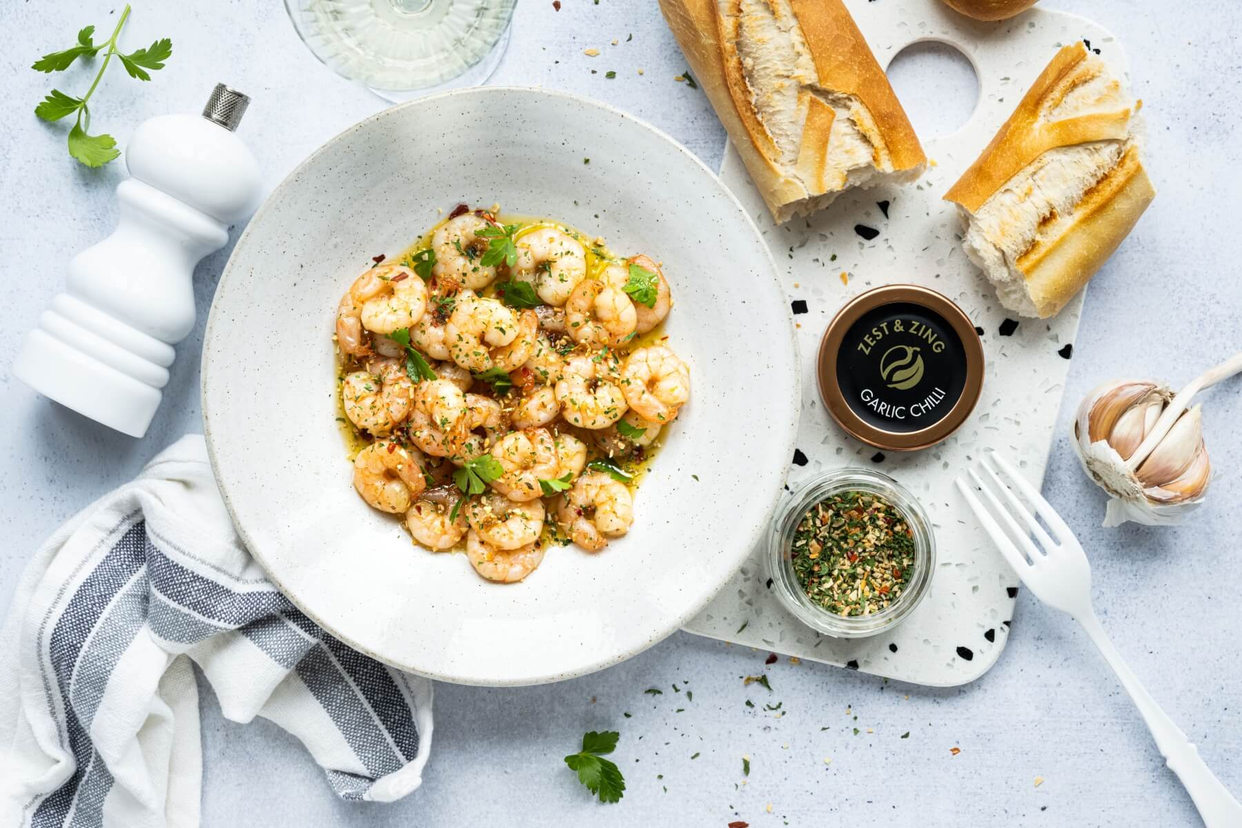 garlic chilli shrimps