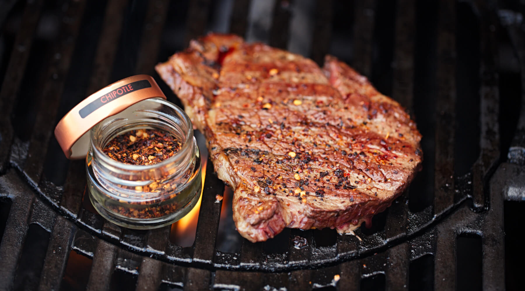 chipotle chilli flakes on steak