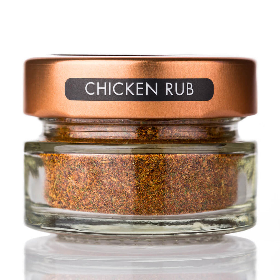 Chicken Rub spice jar and spoon