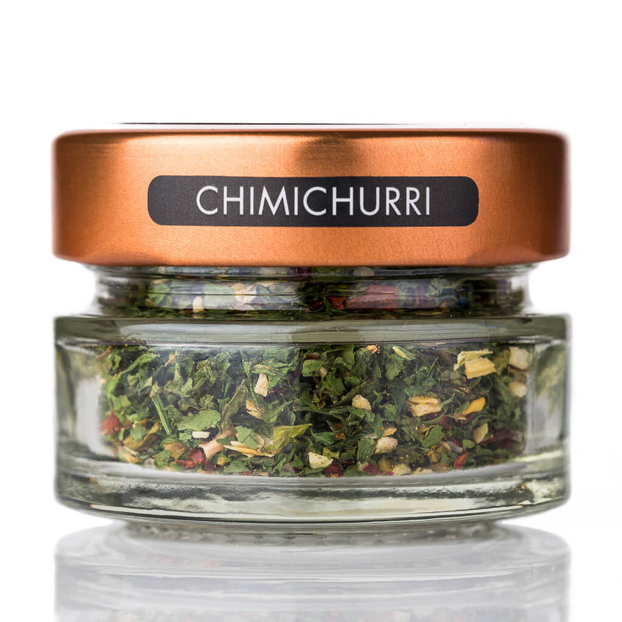 Chimichurri Steak rub jar and spoon