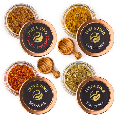 Asian Spices Gift Set & Spoons