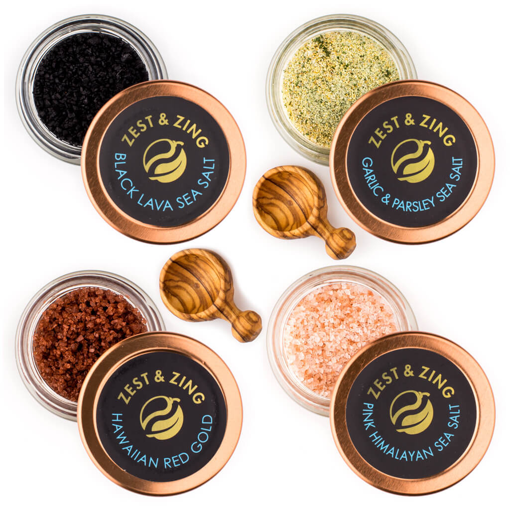 A Taste of Gourmet Sea Salts Gift Set by Zest & Zing Spices