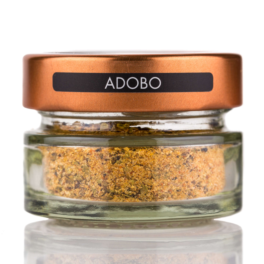 Adobo Spice jar and spoon