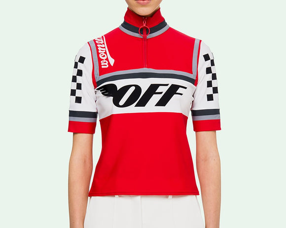 OFF-WHITE RED CYCLING T-SHIRT