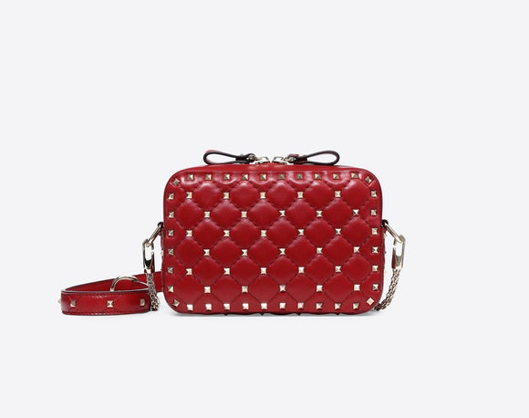 VALENTINO ROCKSTUD SPIKE CROSS BODY BAG