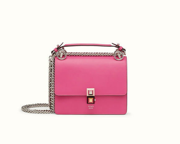 FENDI KAN I SMALL LEATHER MINI BAG