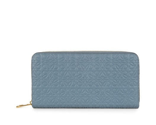 Loewe Zip Around Wallet Stone Blue