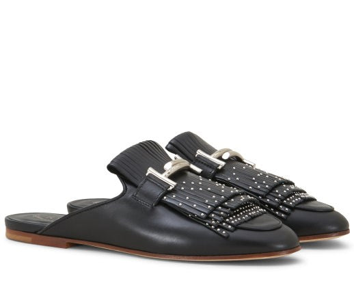 TOD'S MULES IN LEATHER