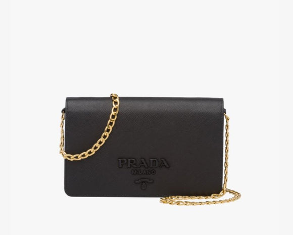 Prada saffiano leather wallet bag