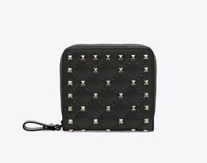 Valentino ROCKSTUD SPIKE COMPACT WALLET
