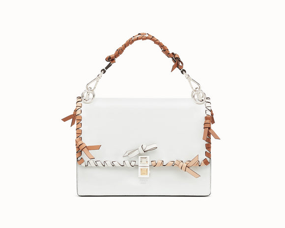 FENDI KAN I White Leather Bag