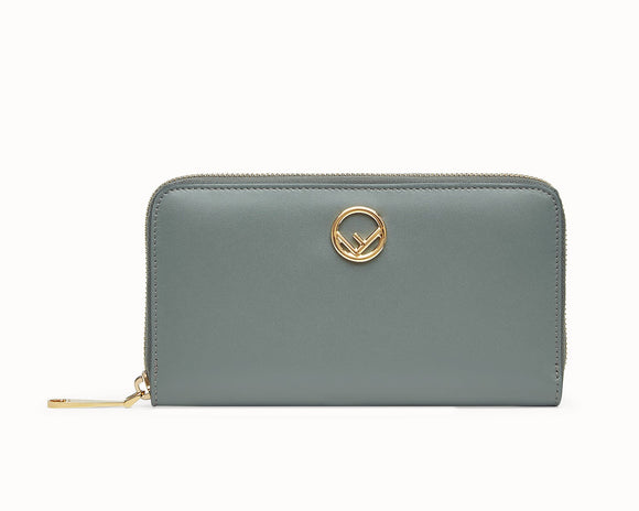 FENDI ZIP-AROUND LEATHER WALLET