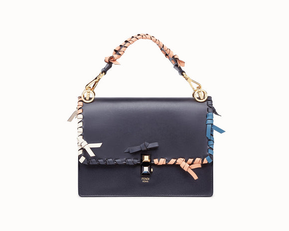 Fendi KAN I Blue LEATHER BAG