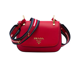 Prada calf leather shoulder bag