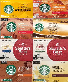 300-Count: Starbucks K-Cups Coffee Pods (Past Best-By Date) - (25¢ EACH!) - Ships Quick!