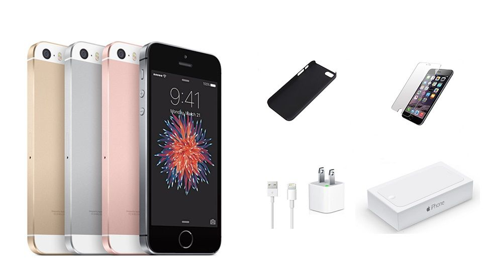 IPHONE SE 64GB WIFI + 4G UNLOCKED BUNDLE (Works with most Carriers!)