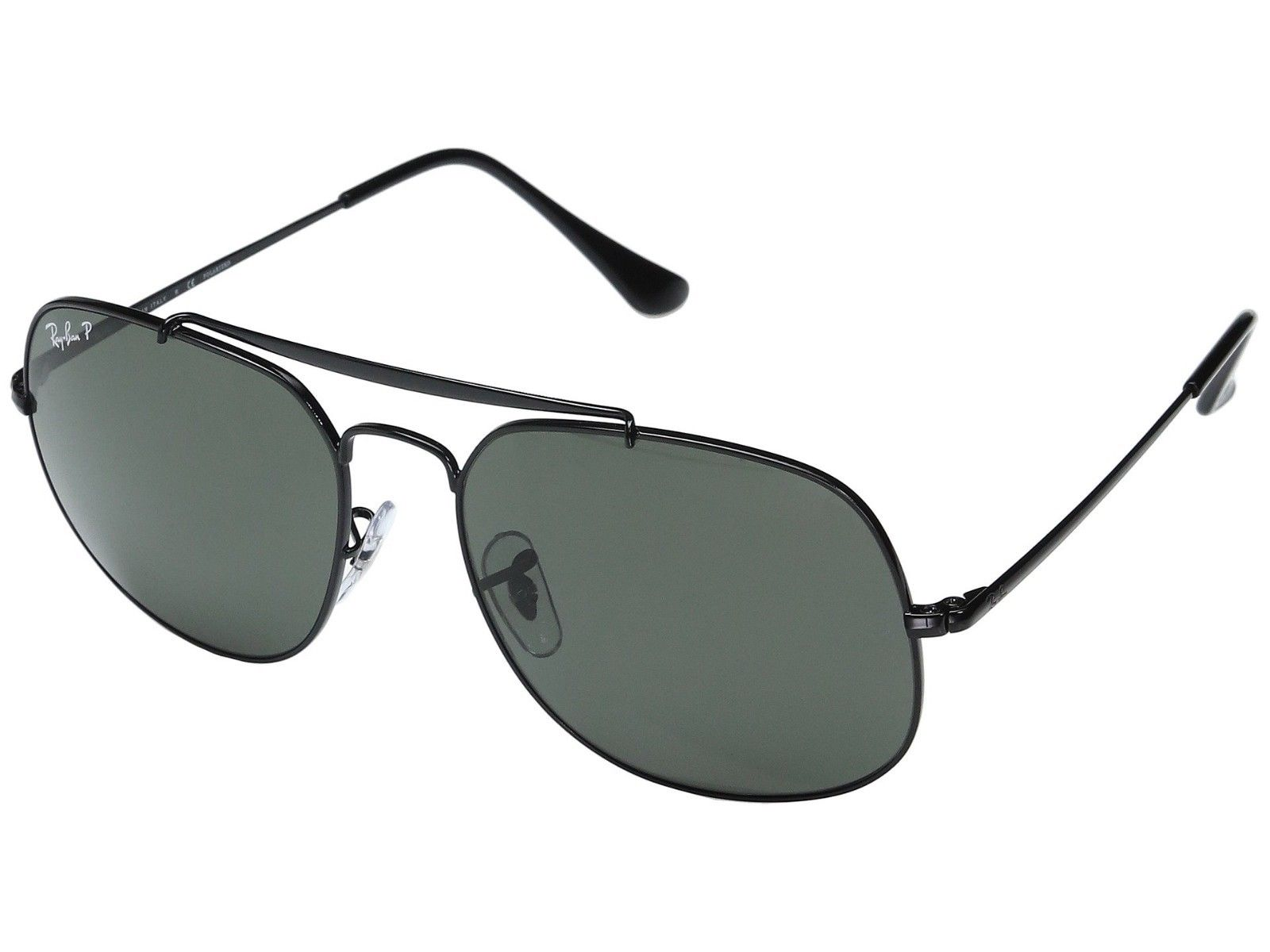 Ray-Ban 'The General' Black/Green Polarized Sunglasses! (RB3561 002/58)