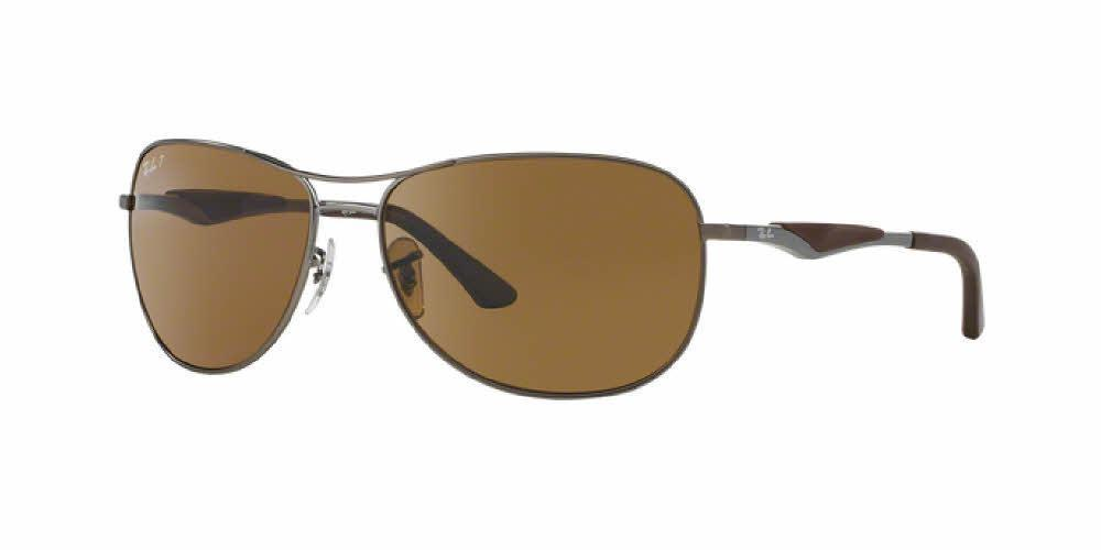 RAY-BAN Matte Gunmetal / Brown Polarized Sunglasses (RB 3519 029/83)
