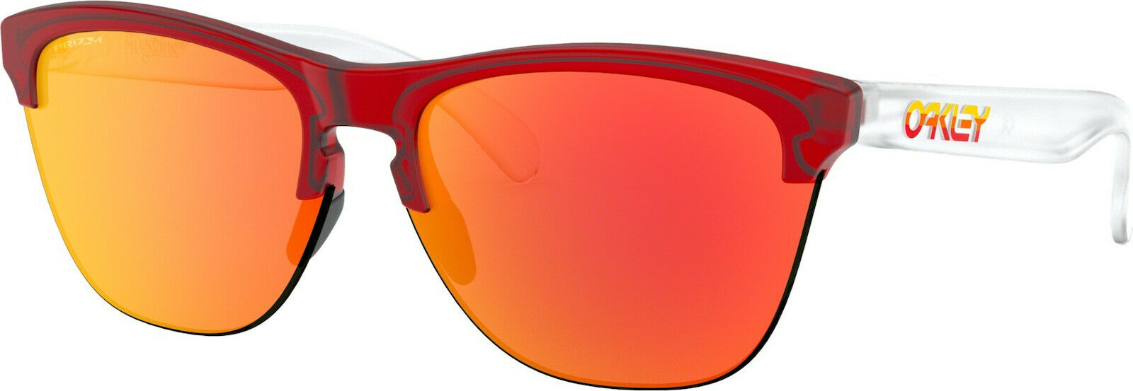 Oakley Frogskins Translucent Prizm Ruby Lens Sunglasses (OO9374-06) - Ships Next Day!
