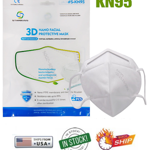 (As low as $1.30) KN95 3D Nano Facial Masks - Passed CDC Assessment Testing - Ship Next Day!!