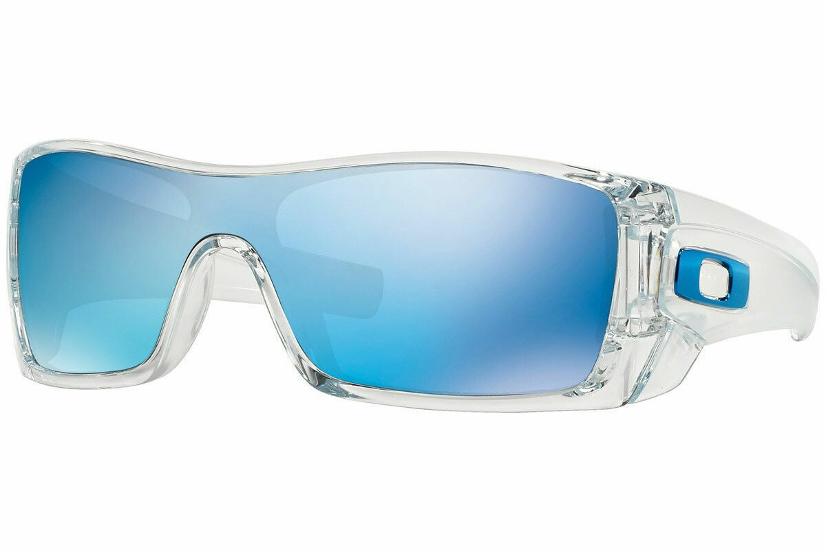 Oakley Batwolf OO9101-0727 Sunglasses Polished Clear Ice Iridium Lens - Ships Next Day!