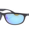 Ray-Ban Matte Black/Blue Polarized Sunglasses