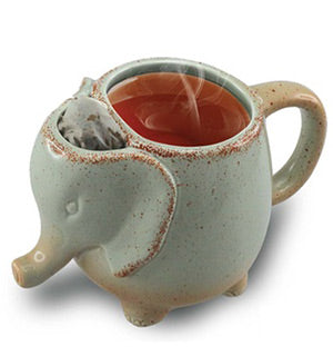 Ceramic Elephant Tea Mug (1, 2 or 3 Pack Options) - Ships Same/Next Day!