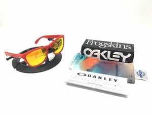 Oakley Frogskins OO9013-92 Matte Red Frame Fire Iridium Lens Sunglasses - Ships Next Day!