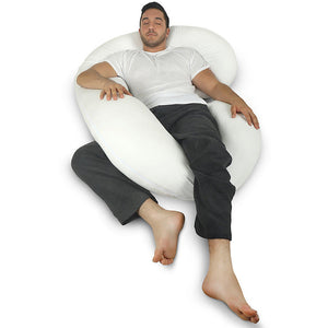 Full Body Pillow with Jersey Cotton Cover (Available in 4 Colors) - Ships Same/Next Day!