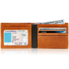 Genuine Leather Bifold Wallets For Men With ID Window RFID Blocking by Access Denied - Ships Same/Next Day!