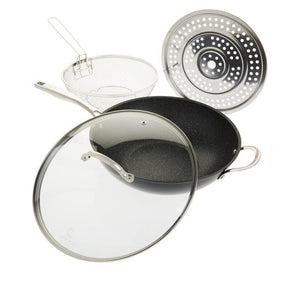 Curtis Stone Dura-Pan 5-Quart 4-piece Nonstick Chef's Skillet Set Model 638479