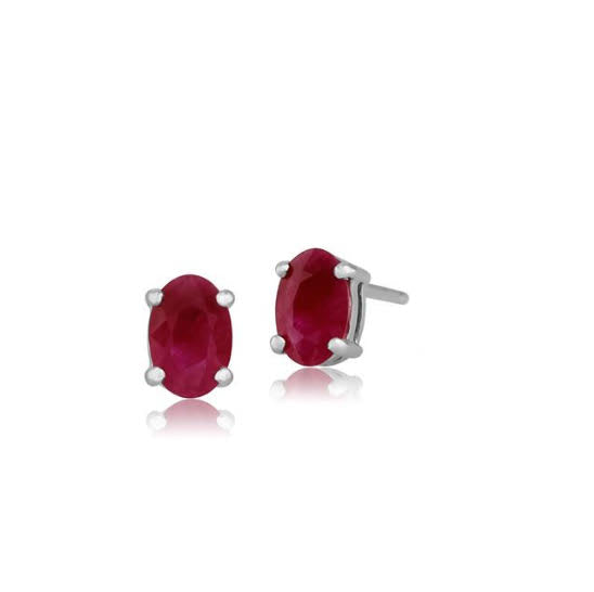 Sterling SIlver Gemstone Studs