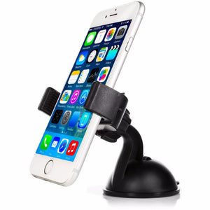 2 PACK: Universal Car Windshield Mount Holder w/ 360° Rotation for Smartphones & GPS