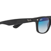 Ray Ban Top Black Alcantara / Gradient Blue Sunglasses!