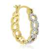 Infinity Diamond Hoop Earrings, Yellow Gold Overlay, 3/4 Inch - Ships Same/Next Day!