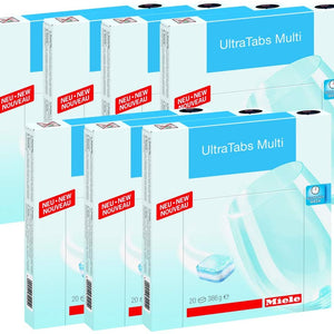 Miele Universal Dishwasher Tabs (120 Tabs - 6 Boxes of 20) - Ships Next Day!