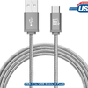 2 PACK: LAX Gadgets USB Type C Braided Cable with Reversible Connector (6 Ft)