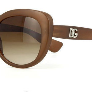 Dolce & Gabbana Women's Matte Brown Oval Sunglasses (DG6090 2679/13 54mm)