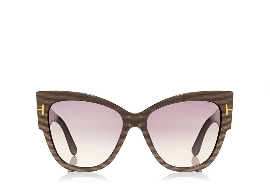 Tom Ford Anoushka Cateye Brown Sunglasses (TF371 50F 57mm)