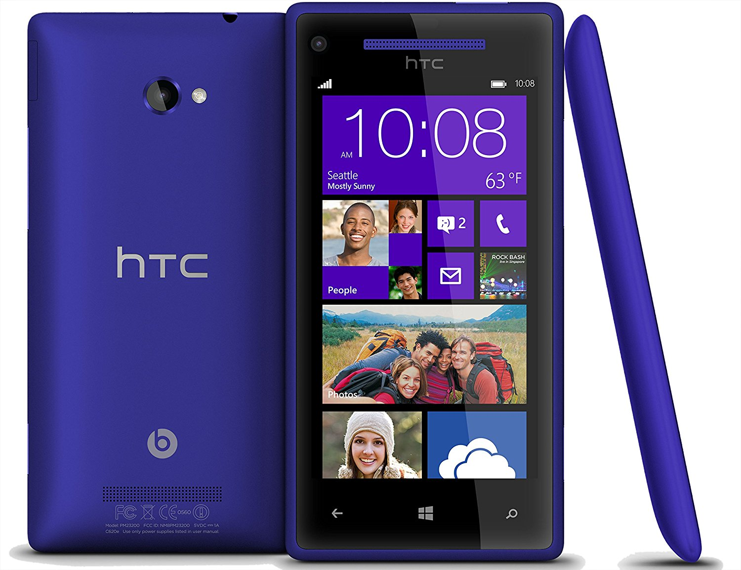 Unlocked HTC 8X 8GB Windows Phone - 8MP Camera, Beats Audio & HD Display